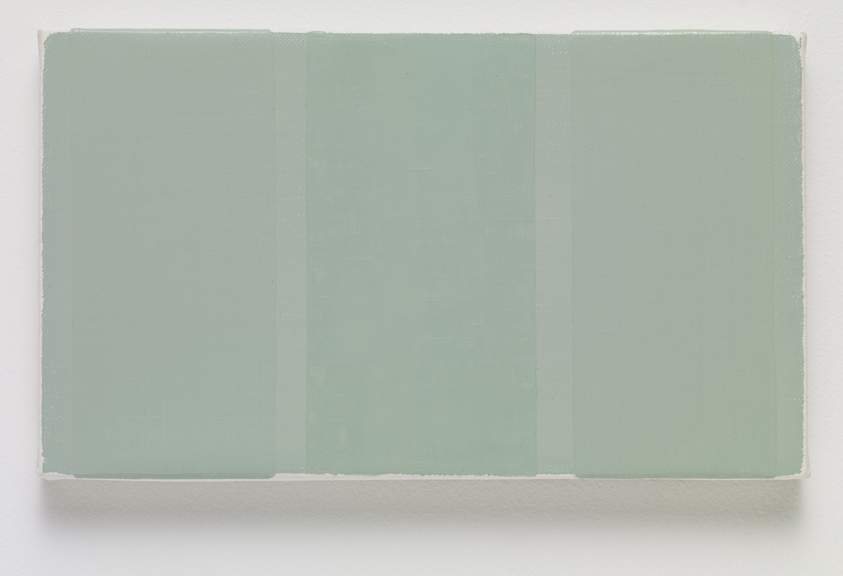 BKB, 2015. Oil on canvas. 14 x 24.3 x 2.3 cm; 5 ½ x 9 ½ x ⅞ inches.