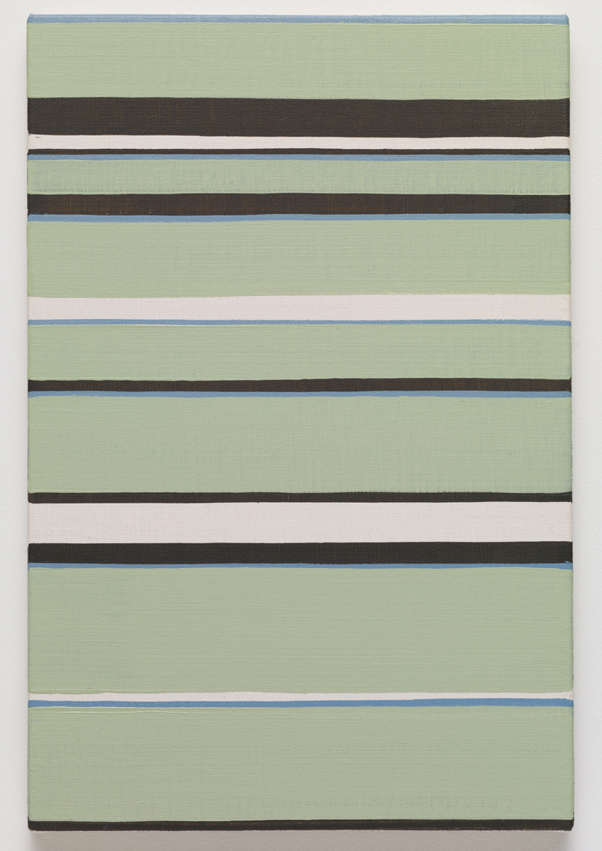 ↑↓↑, 2015. Oil on canvas. 41.5 x 27.5 x 2.3 cm; 16 ¼ x 6 ⅜ x ⅞ inches.