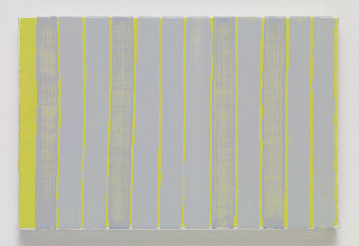 Gray of gray of Sekaido and Kusakabe, 2015. Oil on canvas. 16.5 x 24.3 x 2.3 cm; 6 ¼ x 9 ½ x ⅞ inches.