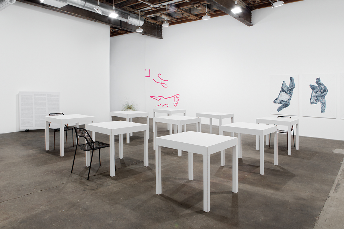click click, space space, installation view.