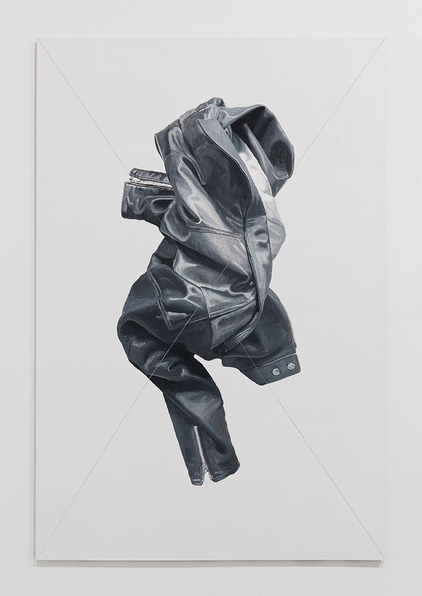 Jacket Panel (4), 2014. Acrylic and flashe on multiplex wood. 53 ⅛ x 35 ⅜ inches. © Mathew Gallery, Berlin - Photo, Gunter Lepkowski.
