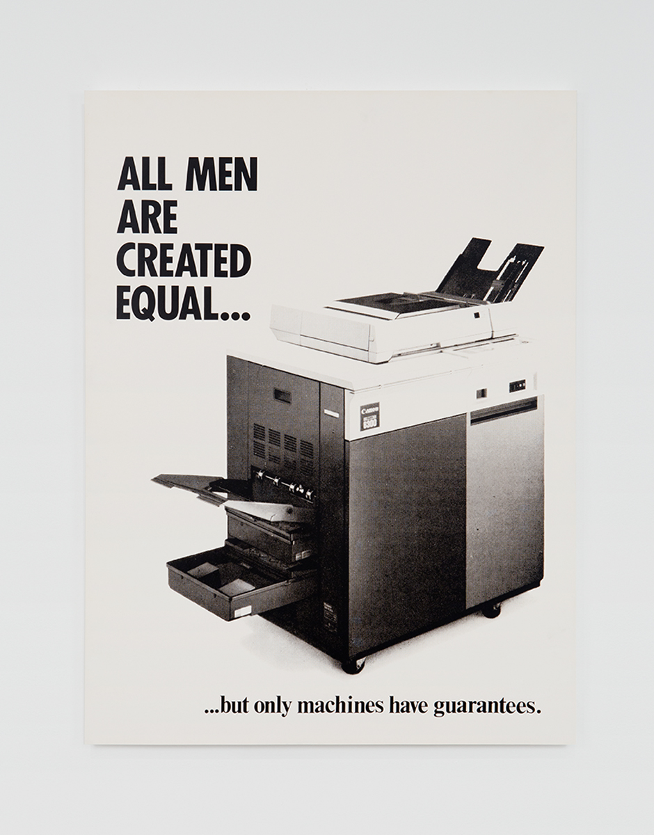 All men are created equal..., 1982. Silver gelatin photograph on board. 39 ¾ x 29 ¾ inches.
