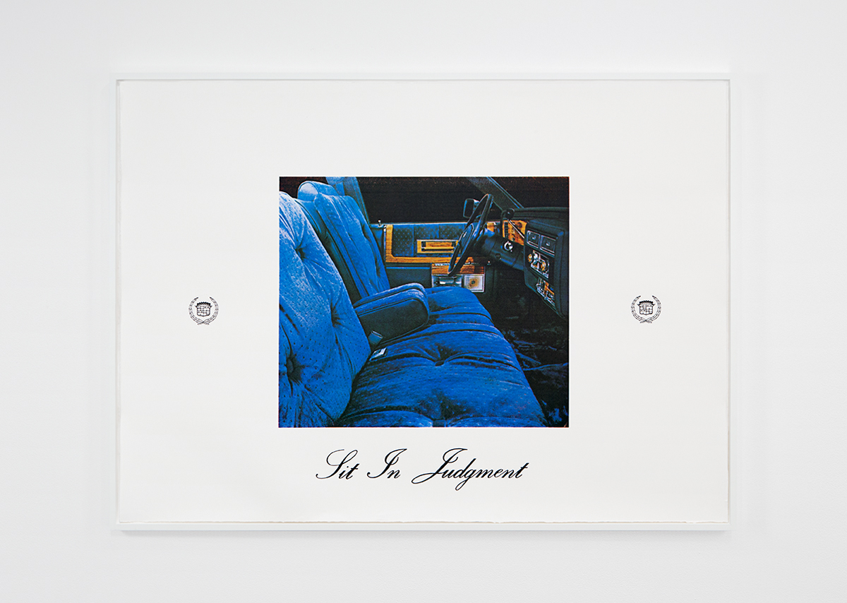 Sit in Judgment, 1982. Four color silkscreen. 28 x 67 inches. Edition of 6+1AP; 1/6.