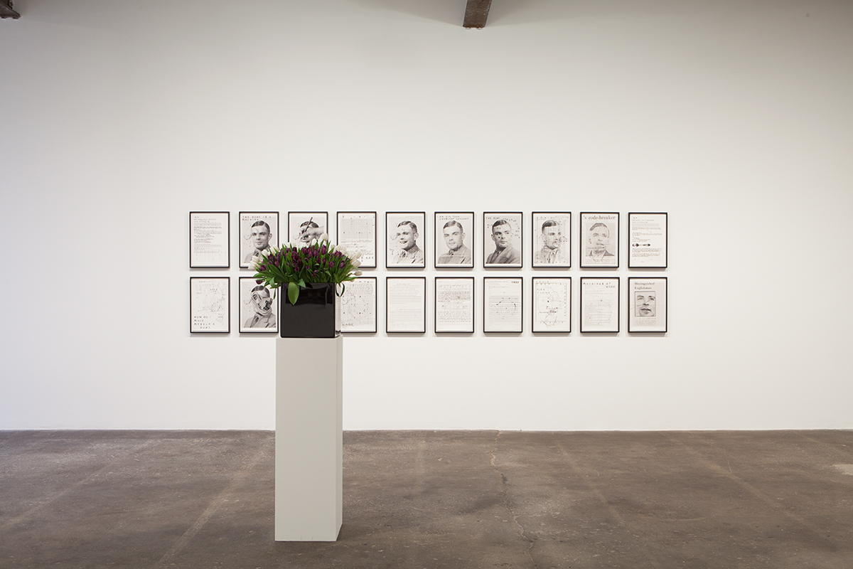 Plaisance, installation view. Foreground: Willem de Rooij, Bouquet VI, 2010. Backgroud: Henrik Olesen, A.T., 2012.