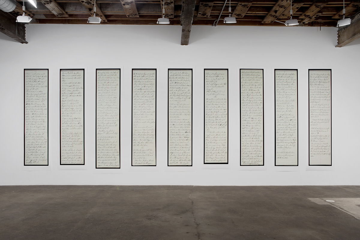 Hidden, 2014. Nine inkjet prints. 114 x 336 inches, installed