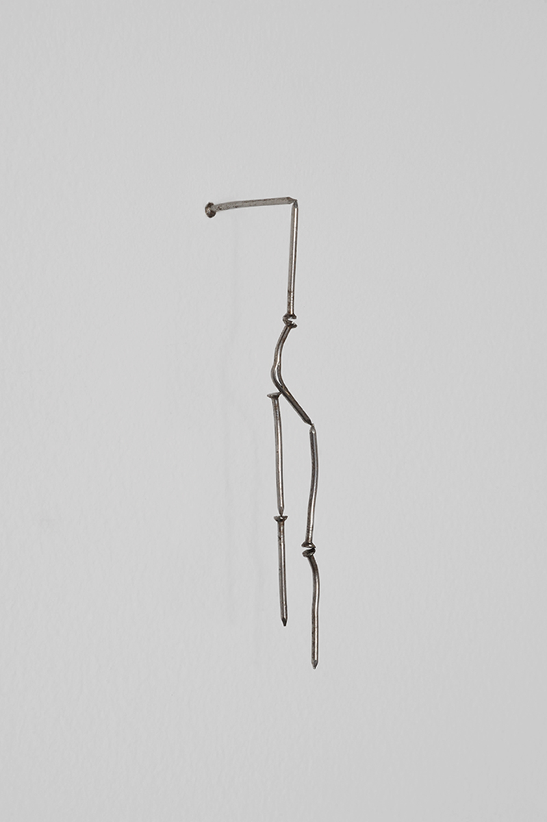 Mender, 2012. Nails, magnet. Private Collection, Paris.