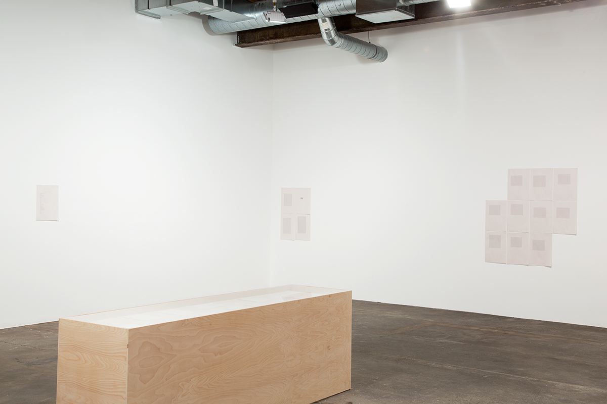 Its chiming in Normaltown, installation view. Gallery 1: Seventh Impression. Left to right: soit; Smallland; do the ever; windows don't talk. All works 2012.