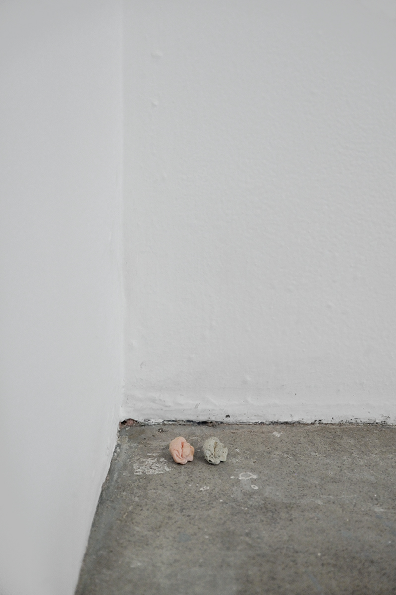 Remembrance (Colourless), 2013. Chewing gum, concrete.
