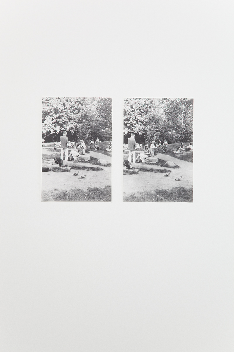 Untitled (Cro-Magnon), 2005. 2 b&w photographs, silver gelatin prints. 19 x 13 inches each.