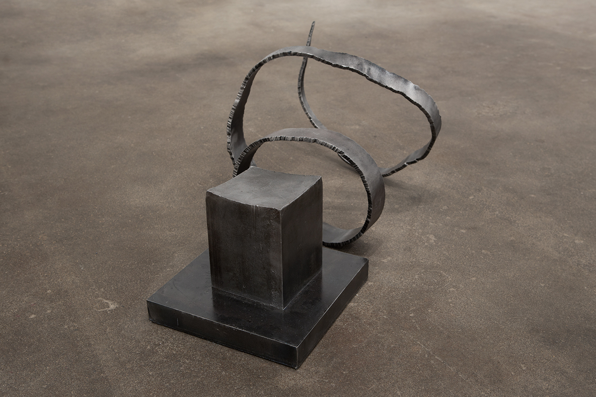 Untitled (Big T), 2013. Steel. 13 x 30 x 16 inches.