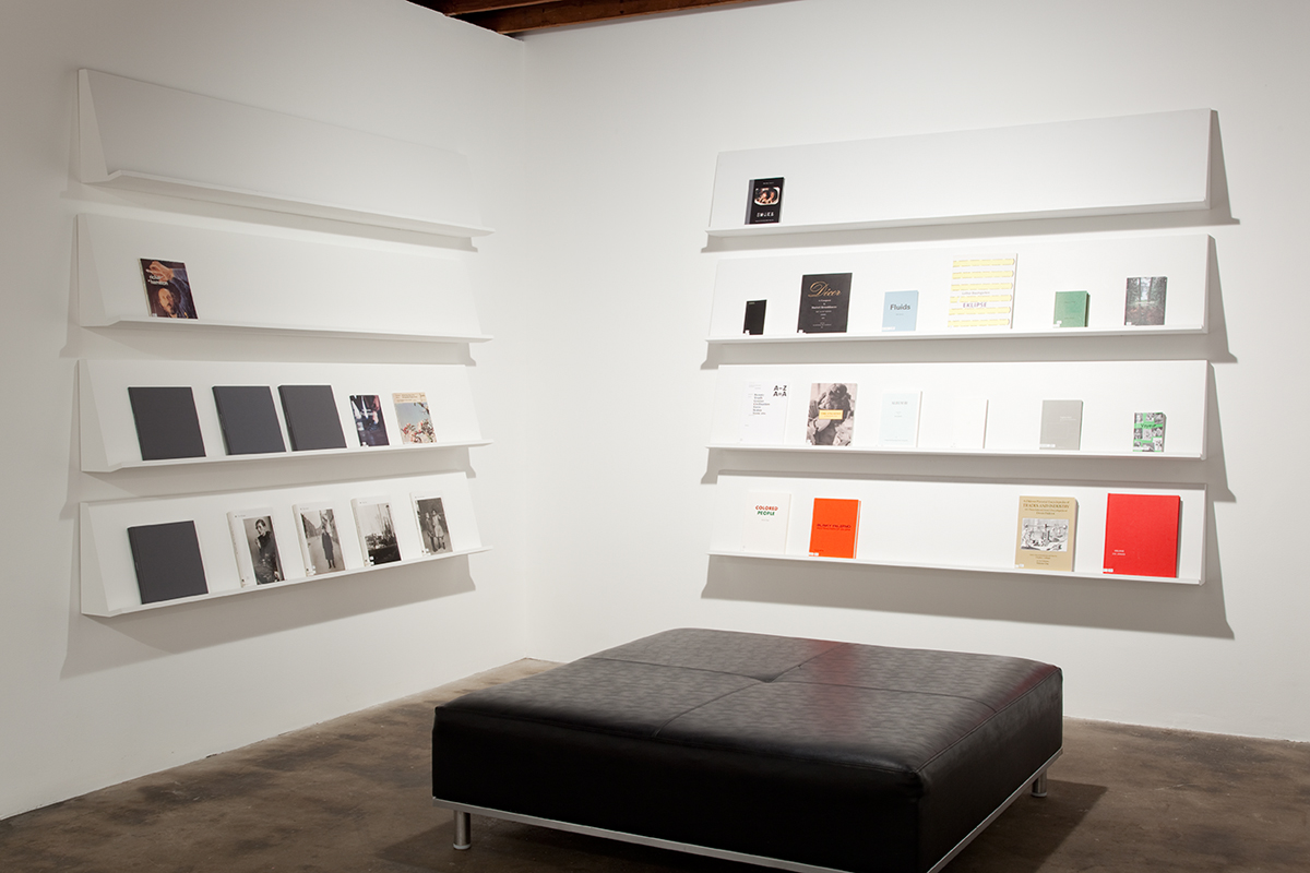 Artist's selection of books from the Midway Library, Midway Contemporary Art.