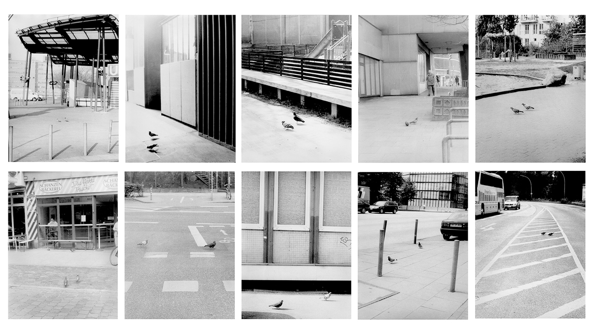 Stadtstrukturen (Urban structures), 2004-2005. 8 b&w photographs, silver gelatin prints. 11 ¾ x 9 ½ inches each.