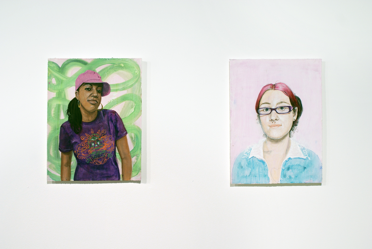 Rapture, Gallery 2 installation view. Left: Untitled #25, 2008. Gouache on paper. 12 ½ x 16 ½ inches. Right: Untitled #24, 2008. Gouache on paper. 12 ½ x 16 ½ inches.