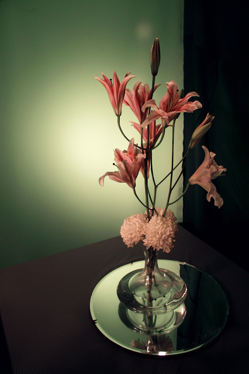 Photograph of Flowers Arranged by an Architect in Shades of Green (#2), 2008. Inkjet print. 29 x 21 inches.