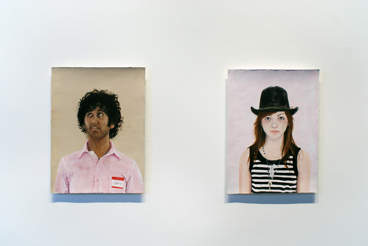 Rapture, Front office installation view. Left: Untitled #46, 2008. Gouache on paper. 12 ½ x 16 ½ inches. Right: Untitled #45, 2008. Gouache on paper. 12 ½ x 16 ½ inches.
