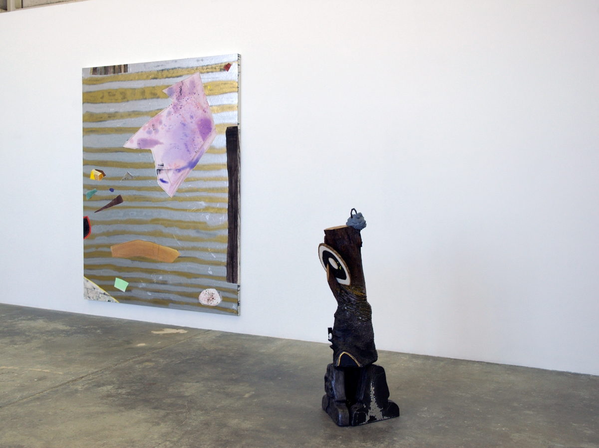 Diamond Hand Grenade, installation view. Left : Rebecca Morris. Right: Anna Sew Hoy.