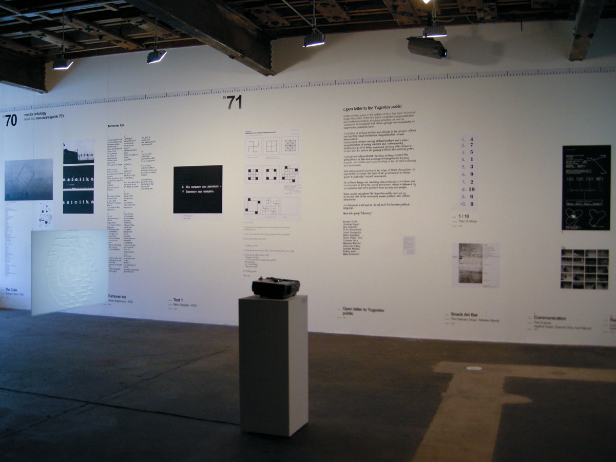 Media Ontology — Mapping of Social and Art History of Novi Sad, installation view.