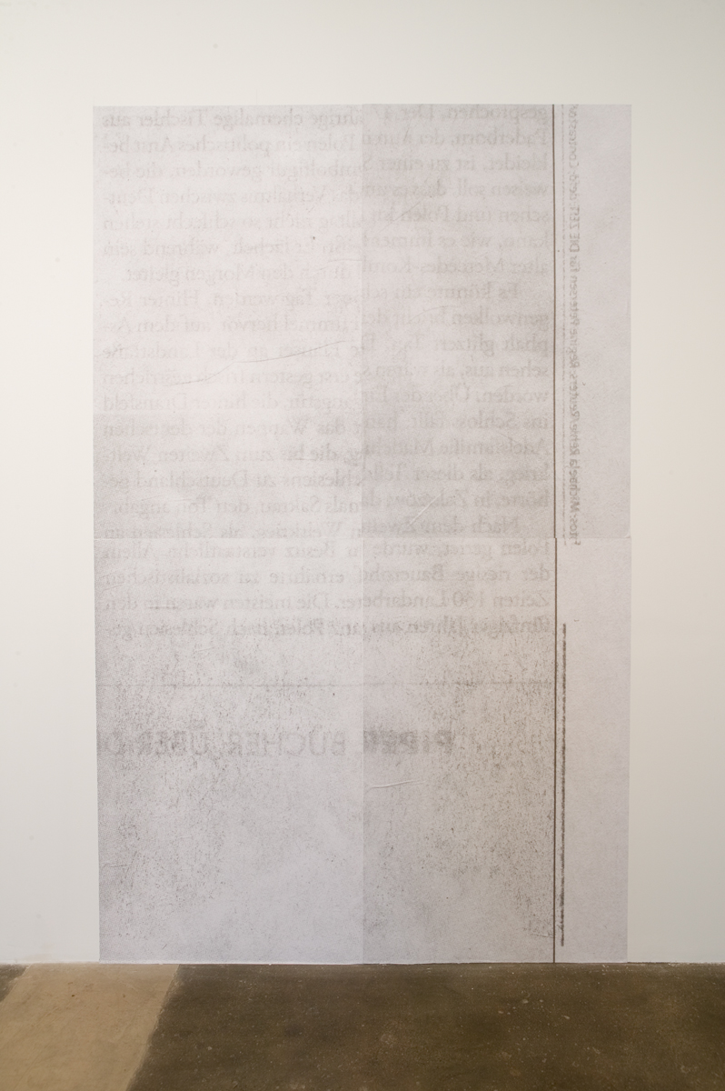 Newspaper Ad #12 (Billboard), 2007. Billboard paper. 126 inches x 78 ¾ inches.