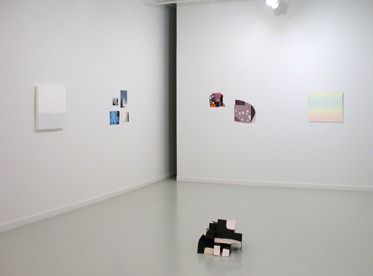Loaded, installation view. Left to right: Gregg Perkins, Molly Smith, Ruth Root, Michelle Grabner. Foreground: Nancy Ford.