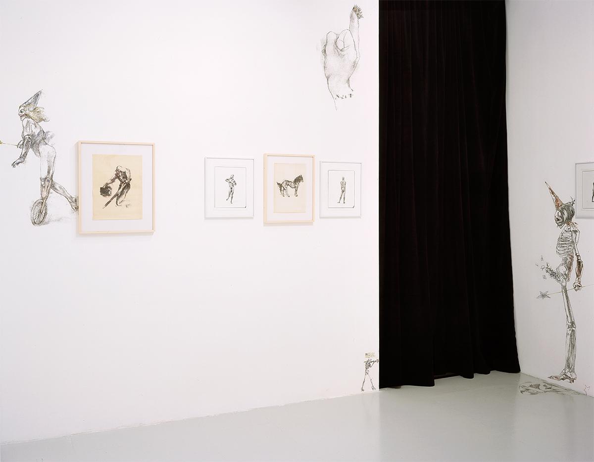 Brice Dellsperger & Jean-Luc Verna, installation view.