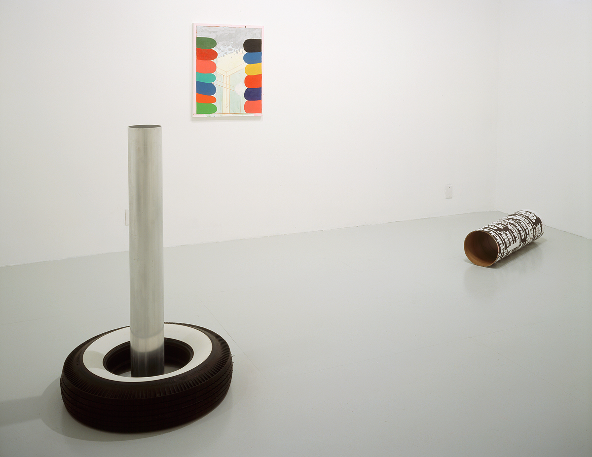 ISHTAR, installation view. Left to right: Cady Noland, Richard Hawkins, Cady Noland.