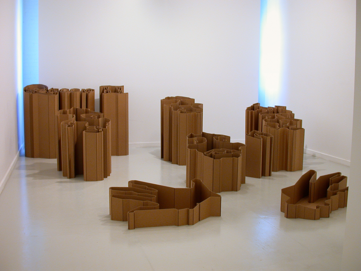 Kirk McCall, Queen II, 2002. 2-ply cardboard. Dimensions variable.