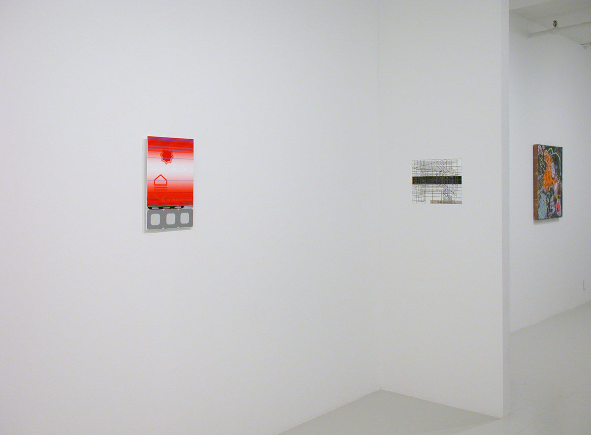Loaded, installation view. Left to right: Beverly Fishman, Jeff Konigsberg, Thor Eric Paul.