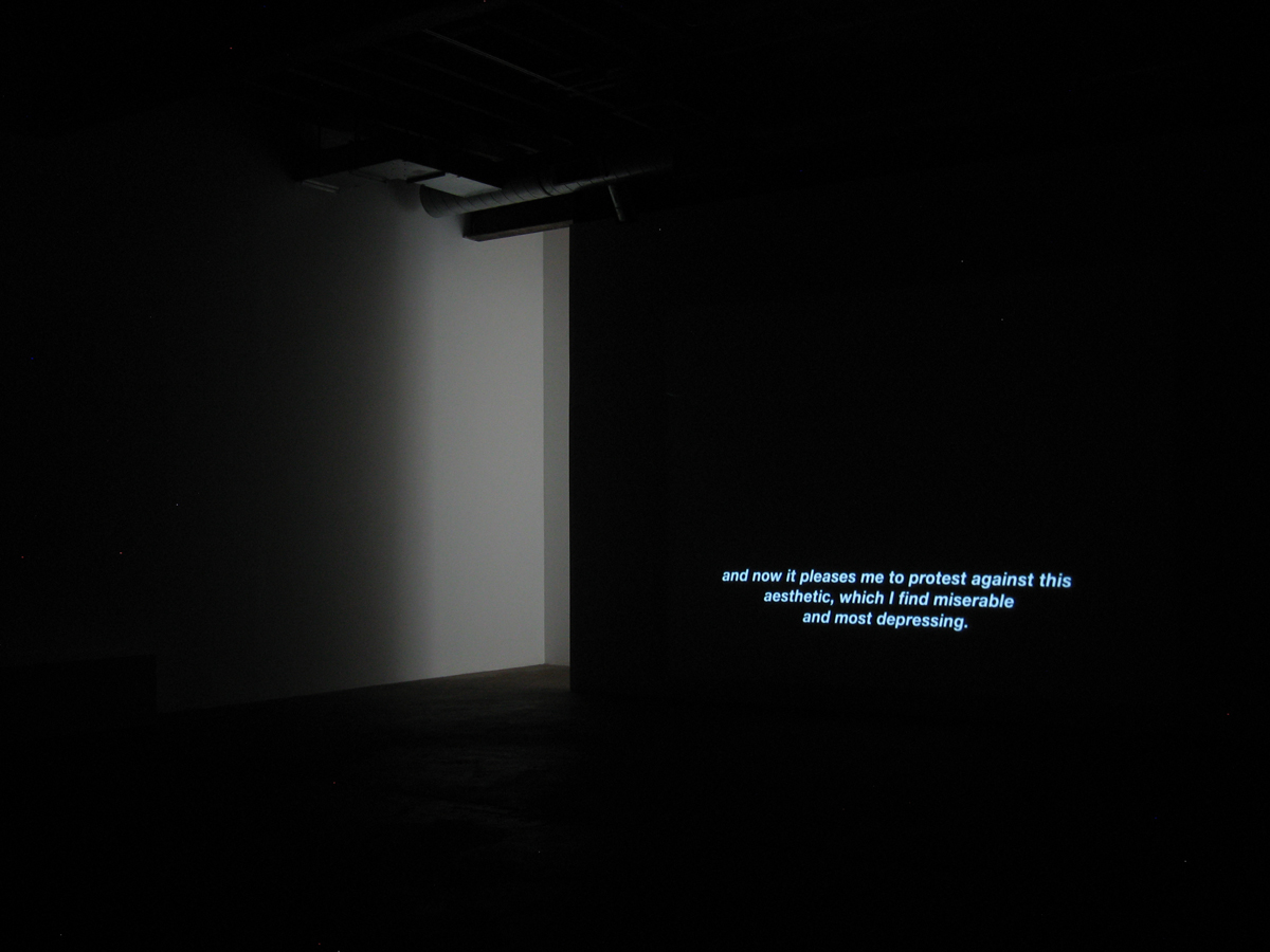 Anticultural Positions, 2009. 16 mm film, silent. 29 minutes.