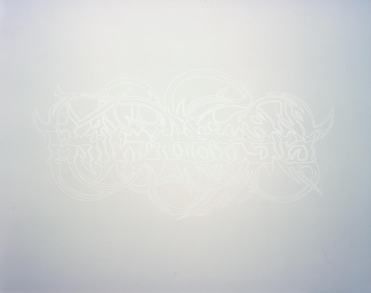 Jay Heikes, Untitled (Deathmetal Series), 2001. Vinyl.