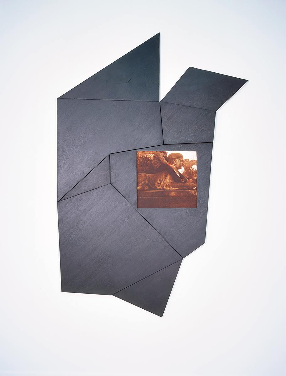 Mosaik, 2005. C-print, stain, acrylic paint, wax, plywood. 62 ½ x 42 x 2 inches.
