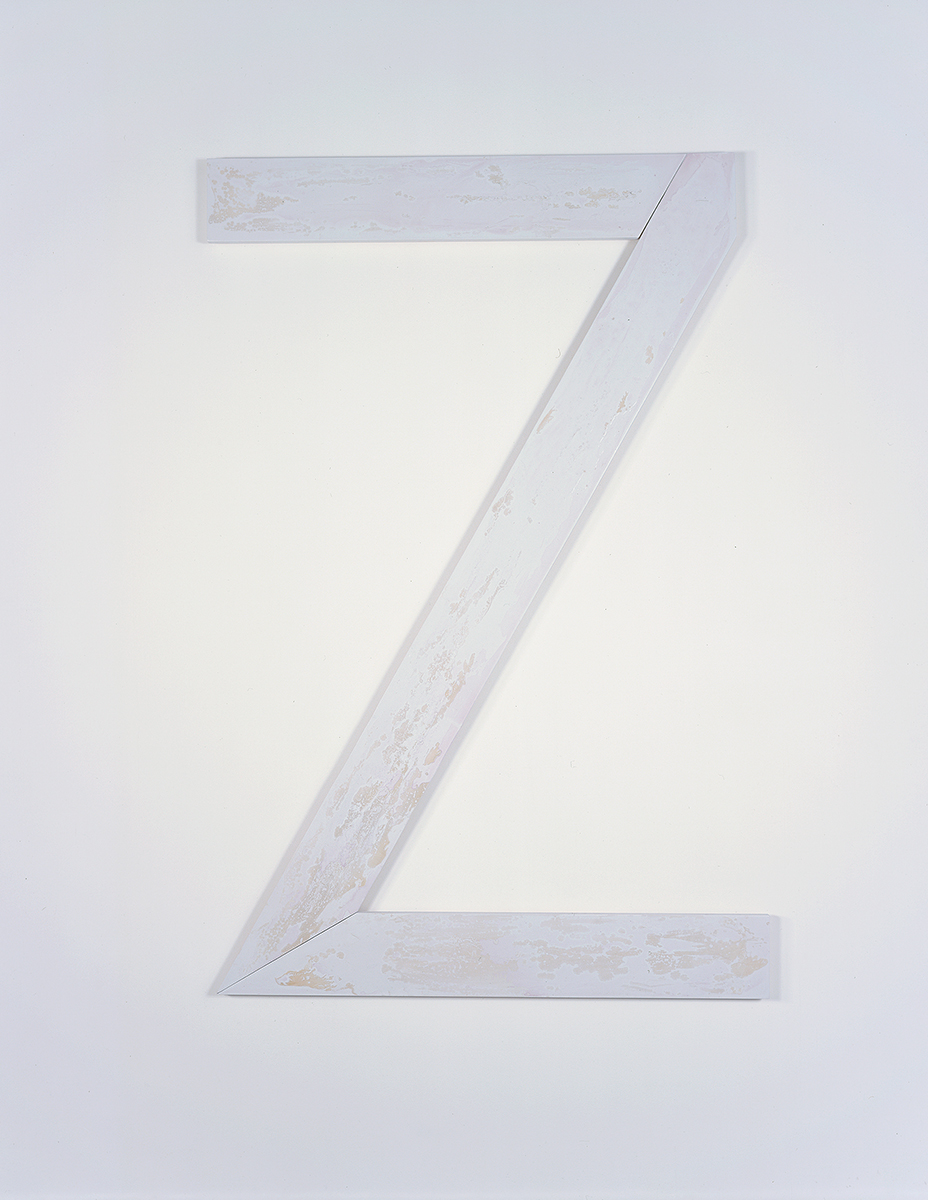 Zei, 2005. Plywood, acrylic lacquer, resin lacquer. 74 x 47 x 1 ½ inches.