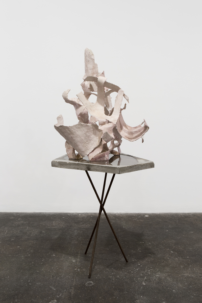 Jeff Ono, It was always you, Helen (reprise), 2013. Paper clay, concrete, steel, water. Courtesy of the artist.