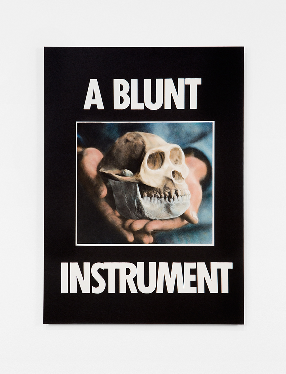 A Blunt Instrument, 1985. Hand-colored oil on silver gelatin photograph. 33 x 24 inches.