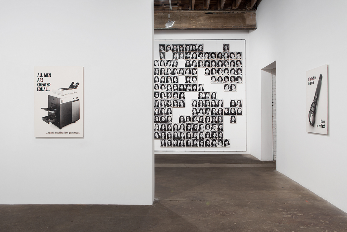 It is better to shine than to reflect, installation view.