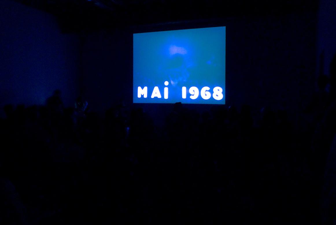 Pierre Clémenti, La Révolution n'est qu'un début. Continuons le combat, 1968. Live music accompaniment by Food Pyramid.