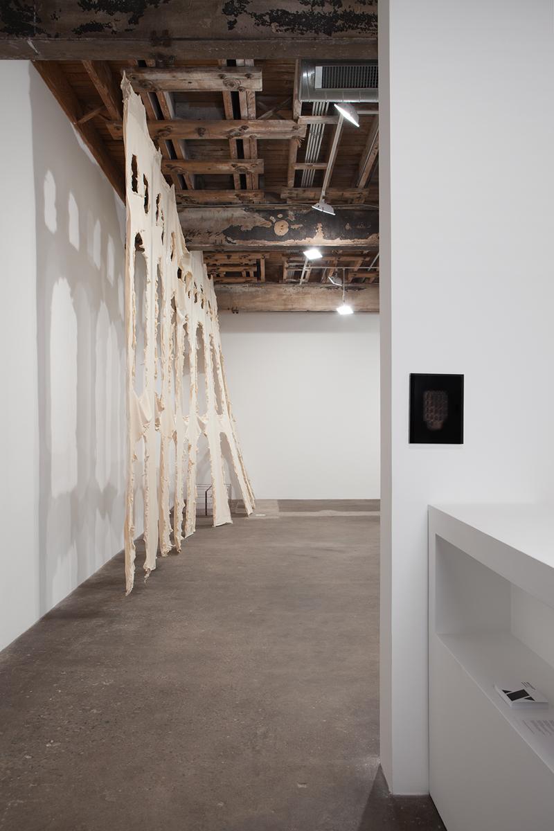 Lettre dall'interno del, installation view. Left: No title, 2014. Right: No title, 2014.