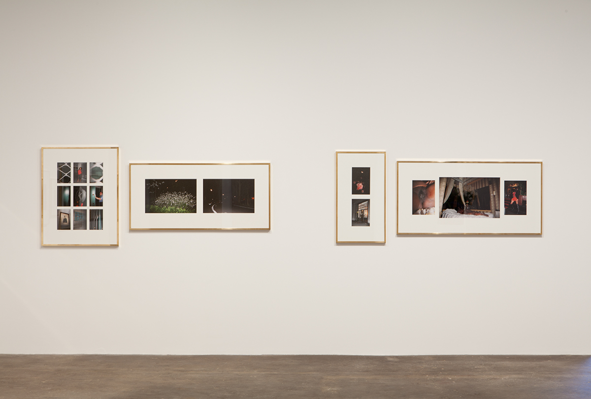 Plaisance, installation view. Sven Augustijnen, Les Demoiselles de Bruxelles, detail, 2008. A book and 29 Lambda prints in 10 brass frames of various sizes. Courtesy Musée d'Ixelles, Brussels.