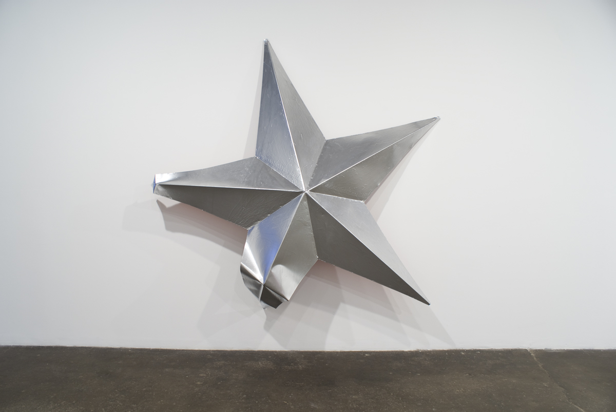Mark Handforth, Silver Star, 2004. Steel and enamel paint. 98 x 98 x 21 inches.