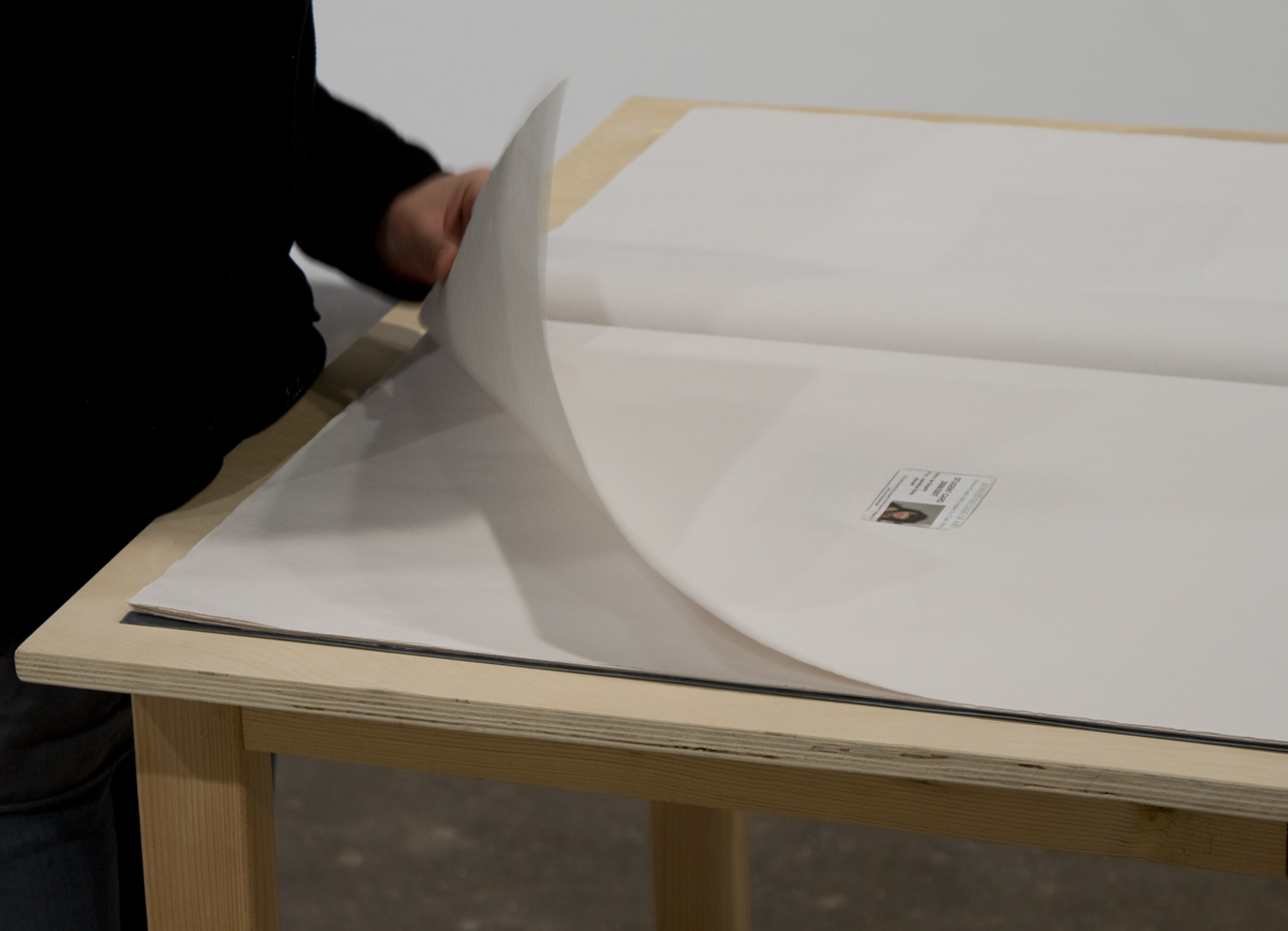 Pair and Pear, detail, 2009. Artist's book. 24 x 18 inches.