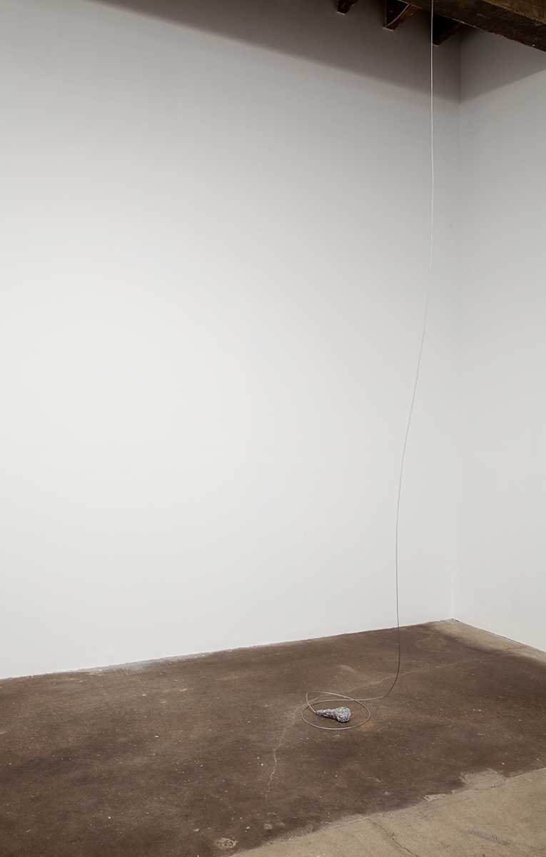 Bartoll the Prisoner, 2010. Wood, tile spacers, enamel, cable wire. Dimensions variable.