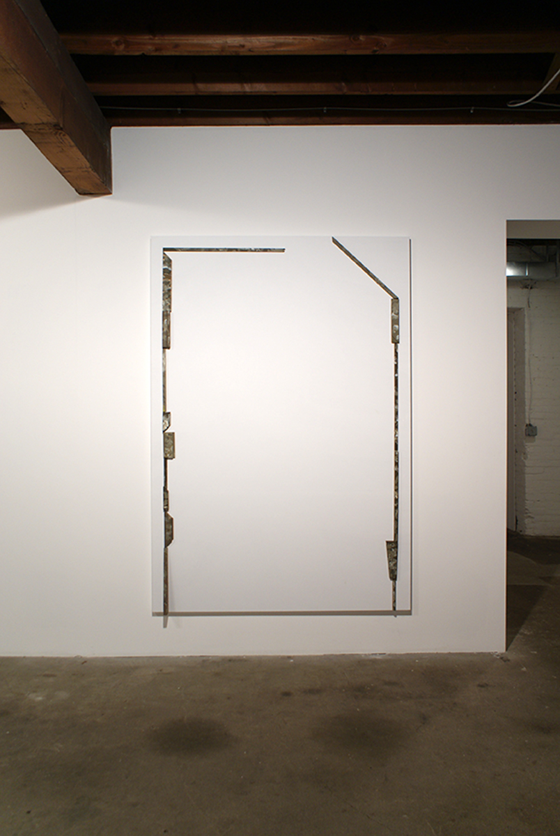 Richard Aldrich, Untitled, 2008. Oil and wax on wood on linen. 84 x 58 inches. Courtesy of the artist and Marc Foxx.