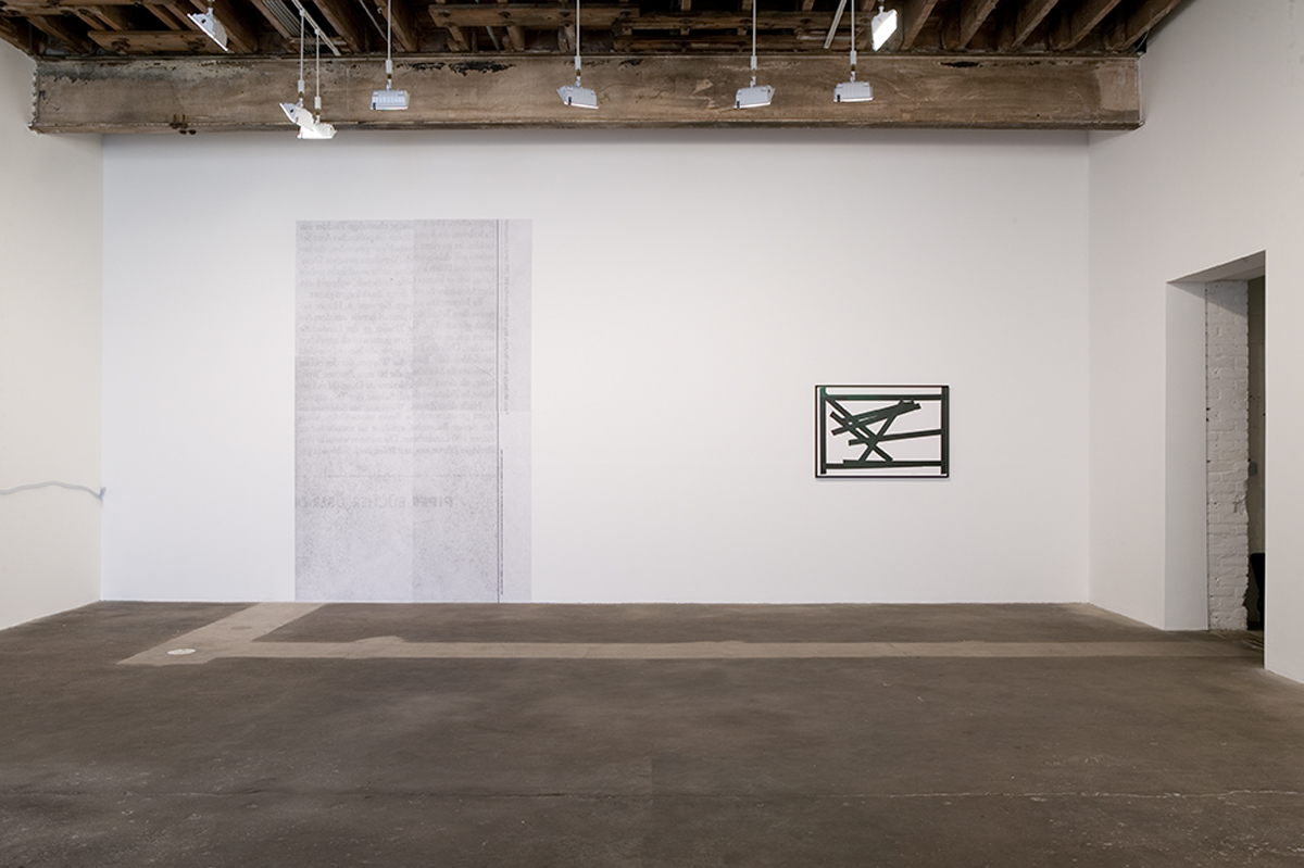 I Don't Think So, installation view.