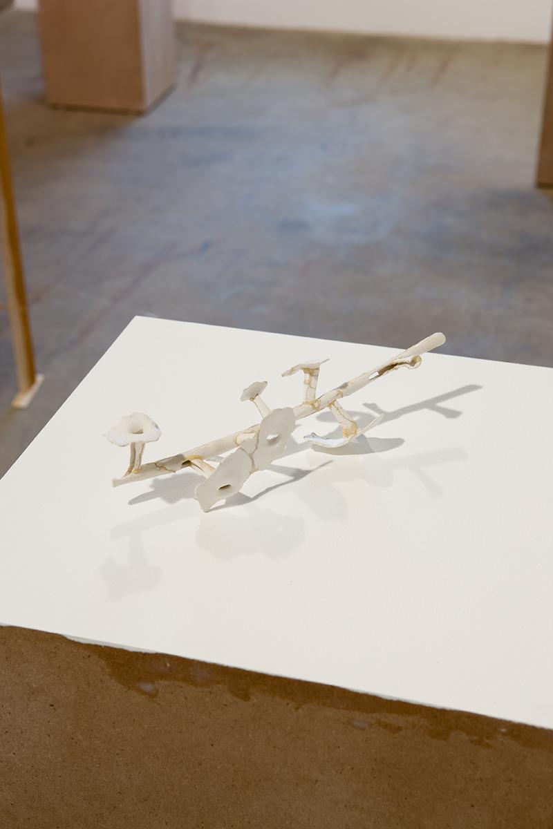 Untitled, 2007. DAS terra-cotta clay, imitation gold leaf, linen, bookboard.