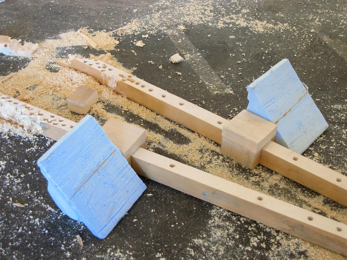 Blow, detail, 2007. Polyurethane foam and wood.