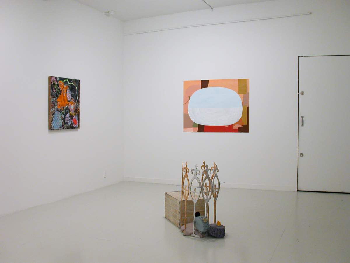 Loaded, installation view. Left to right: Thor Eric Paul, Bruce Tapola, Melissa Pokorny.