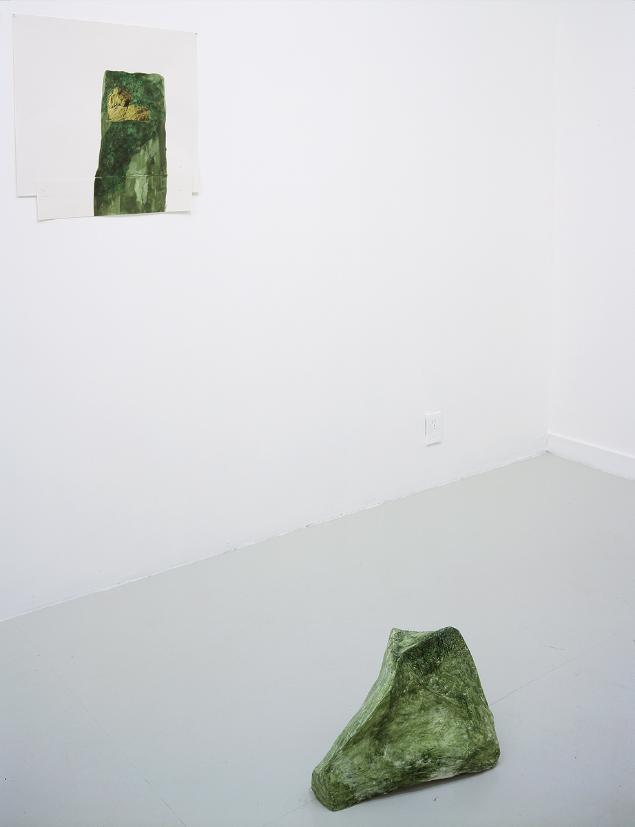 Jessica Jackson Hutchins, Turf, 2002. Collage and ink on paper, papier maché and paint.