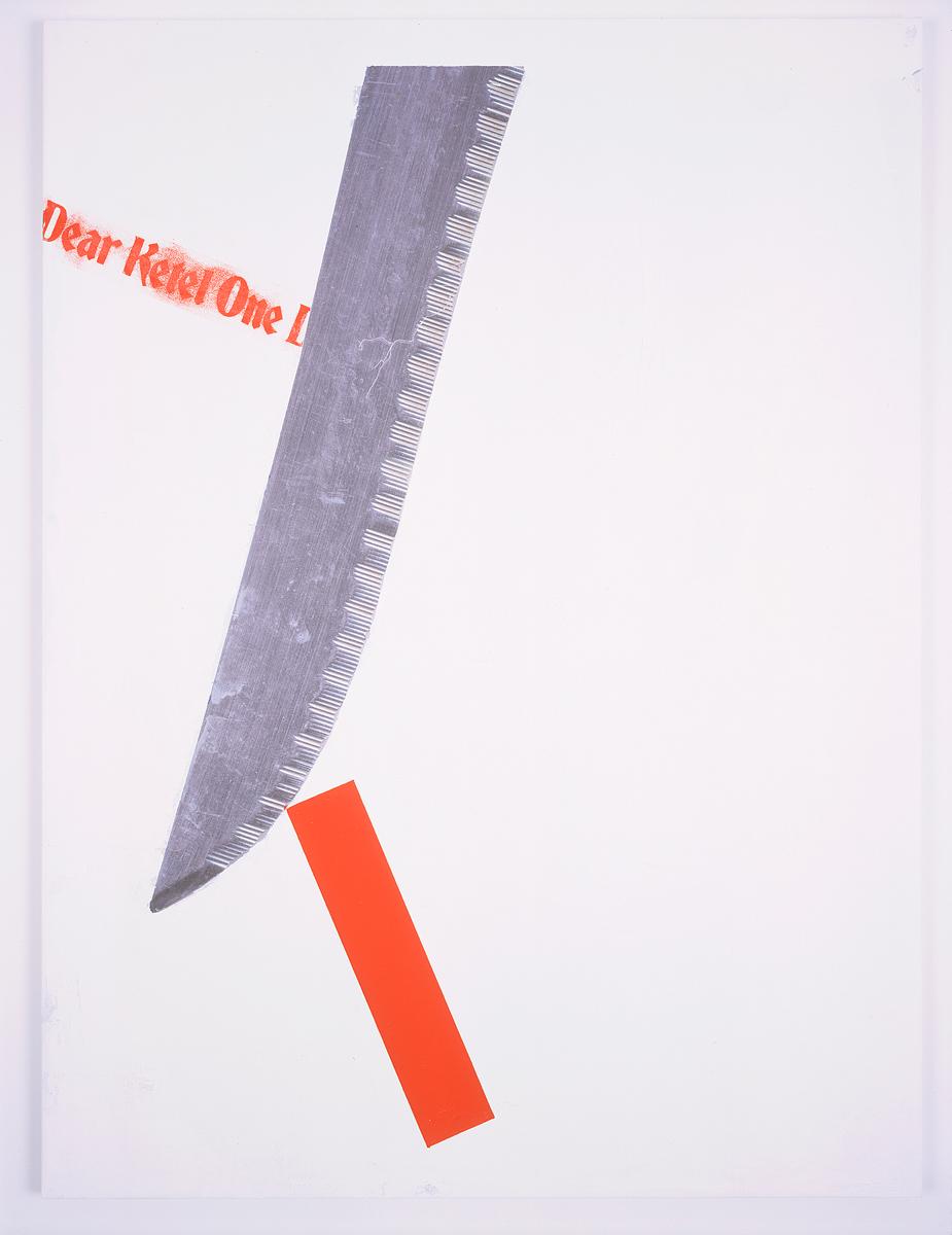 Dear Ketel One Drinker, 2004. Digital ink jet and silkscreen enamel on canvas. 36 x 48 inches.