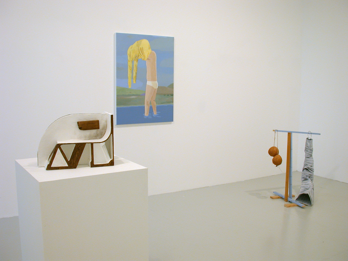 ISHTAR, installation view. Left to right: Vincent Fectau, Brian Calvin, Samara Caughey.