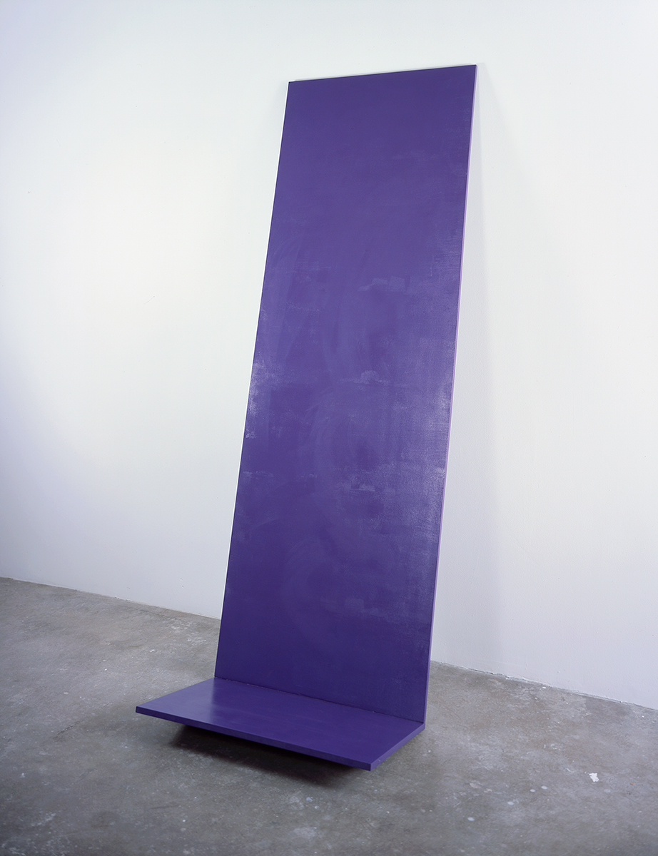 Untitled, 2003. Acrylic paint, acrylic lacquer, plywood. 91 x 31 ½ x 19 ½ inches.