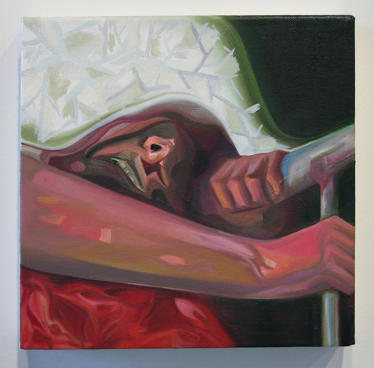 All Lights Out, 2005. Oil on canvas. 10 x 10 inches.